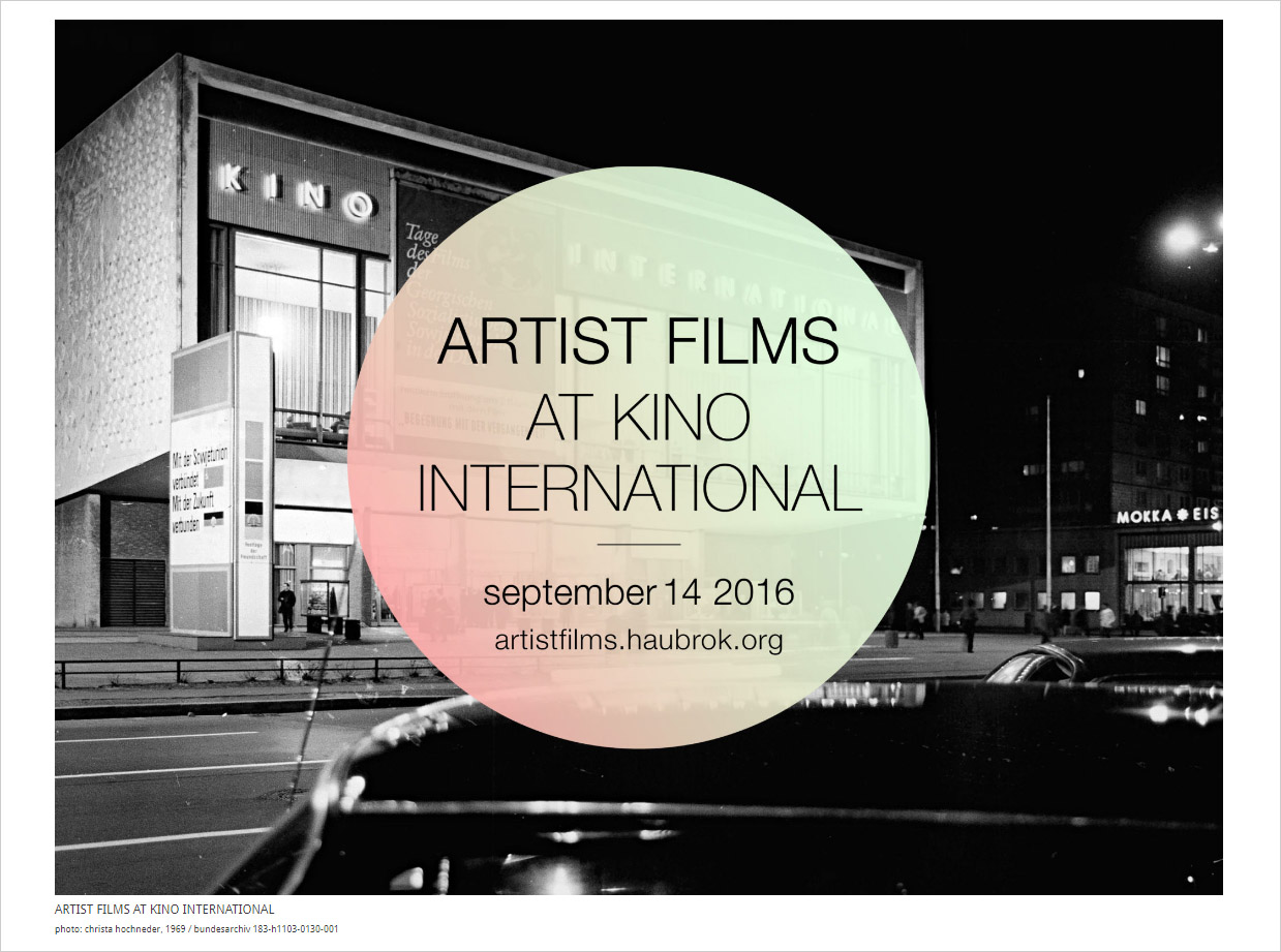 artist films at kino international - haubrok