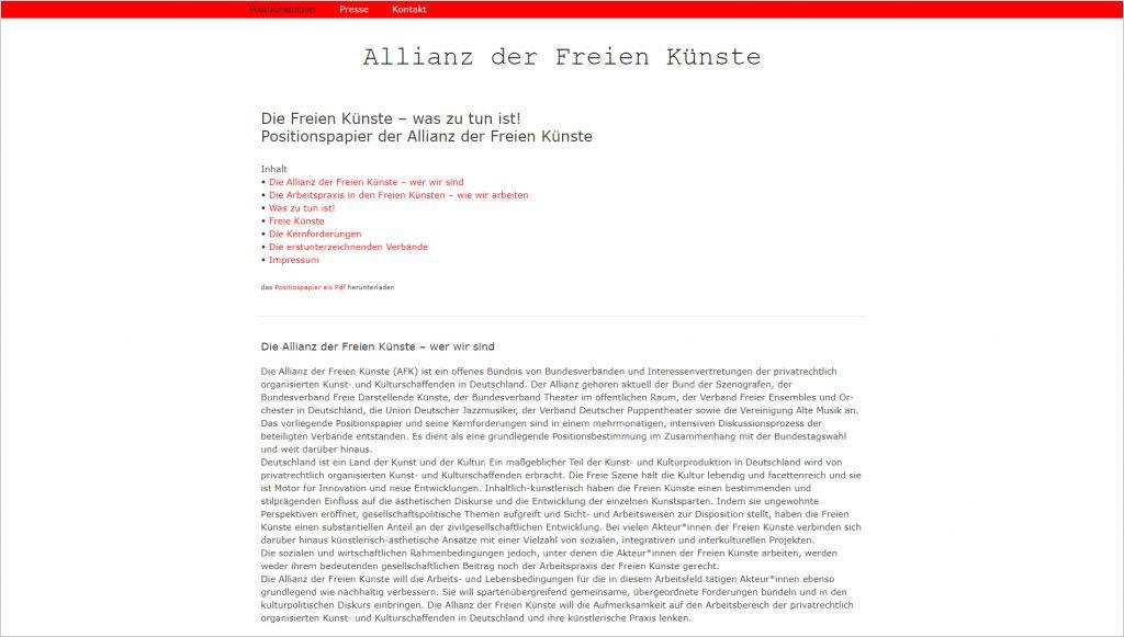 Allianz der freien Künste