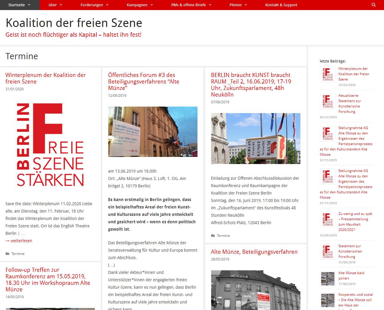 Koalition der freien Szene Berlin